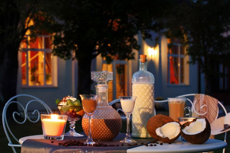 A very romantic evening with a home-made liqours!
