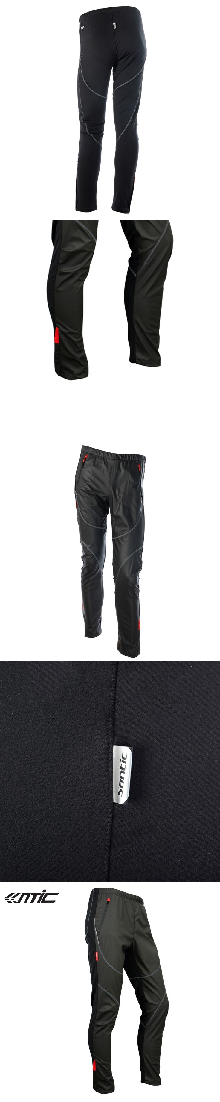 SANTIC Cycling Fleece Thermal Wind Pants Winter Pants Tights-James Mens Sports Trousers Plus Size Track Padded Windproof Pants