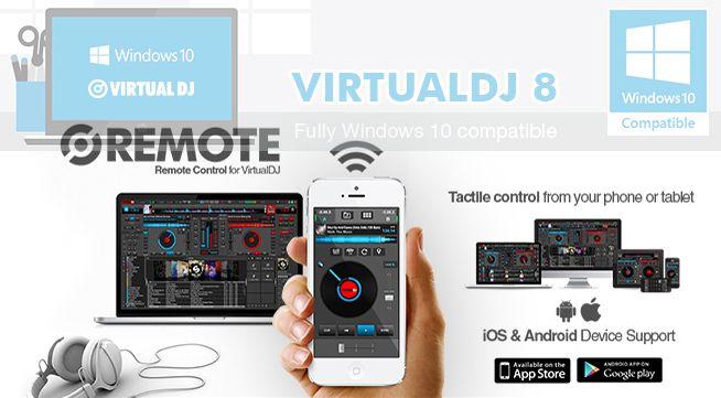 VirtualDJ 8 dreht auf: Windows 10 und iTunes 12 Kompatibilität, Android Remote App, erweiterter Controller-Support und neue Performance Videos.
