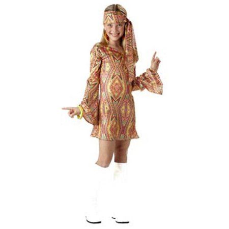 Disco Dolly Child Halloween Costume, Girl's, Size: XL, Gold