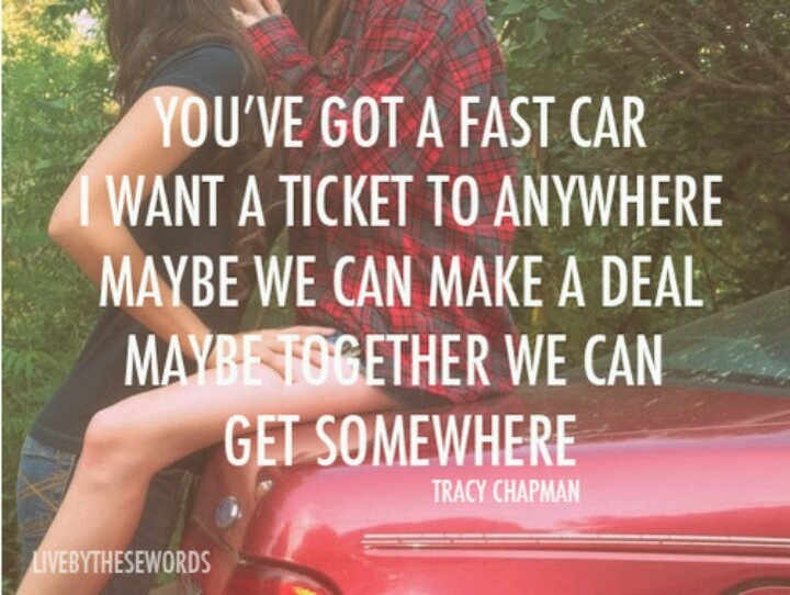 Fast Car Song: Things That Make Me Smile