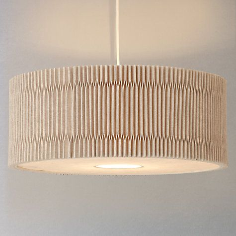Buy John Lewis Croft Collection Easy To Fit Dale Pleated Ceiling Shade Natural