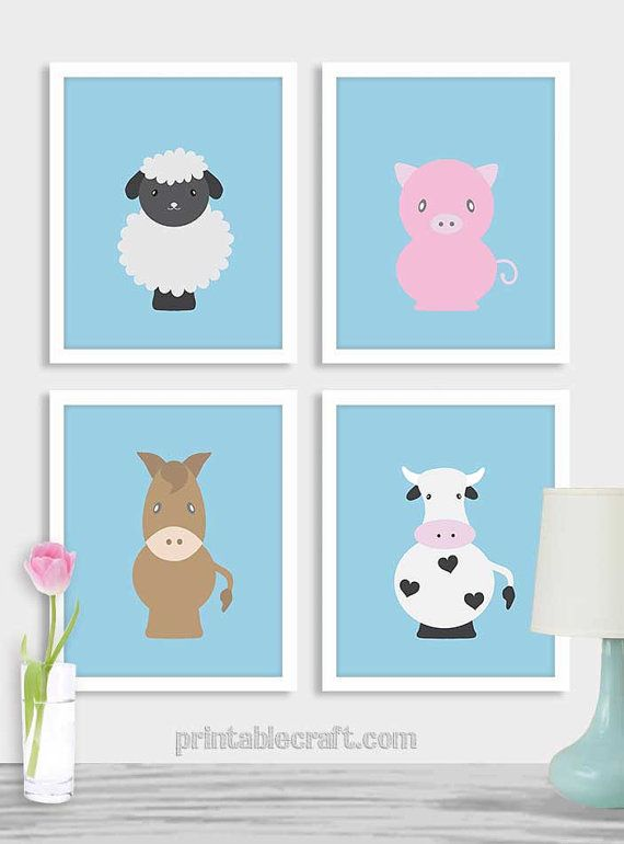 Kids wall art digital download baby boy nursery by PrintableCraft