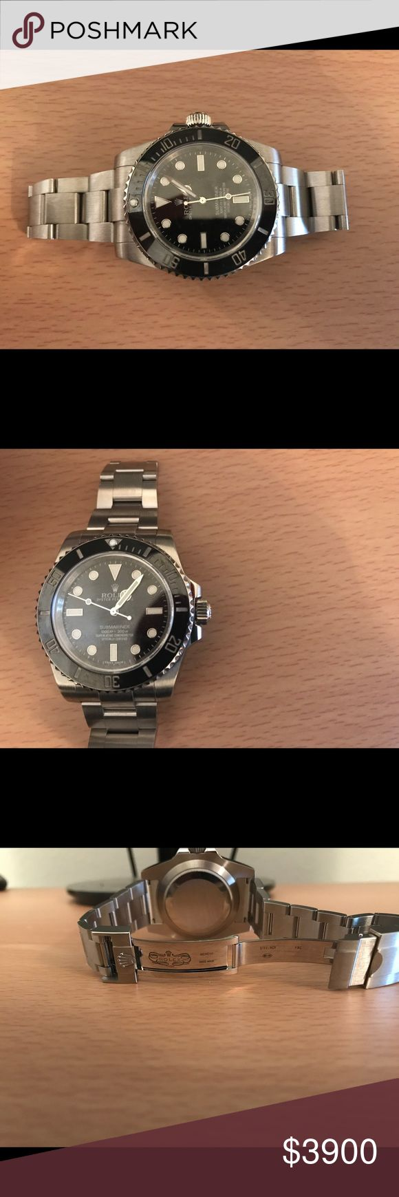 Rolex Submariner 114060 No Date In Good Condition Rolex 114060 Submariner stainless steel and authentic. Check the photos. 9.5/10 condition. Only worn for special occasions. I have not worn it in months and I am looking for a loving owner of this prestige watch Rolex Accessories Watches