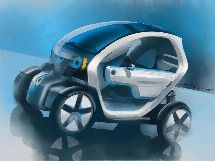Renault Twizy Concept - Design Sketch - Car Body Design