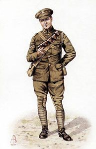 British infantry uniform ww1