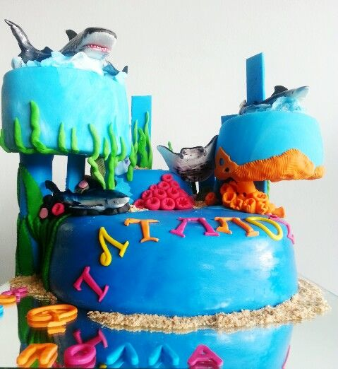 YumJoy creations - Shark  cake