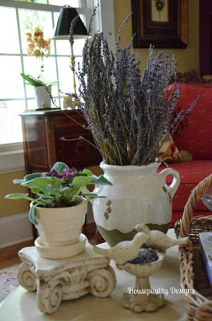 French Country Coffee Table Vignette by shirley stankus