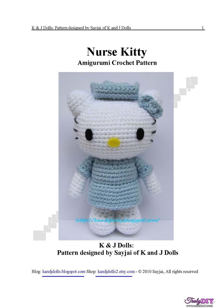 [New]Nures Kitty by Sayjai (K and J Dolls)-Free Craft Patterns