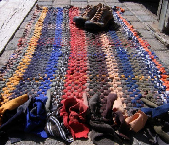 High Quality Handwoven Rug T Shirt Rag Rug Recycled T Shirt Rug By Fiveforty