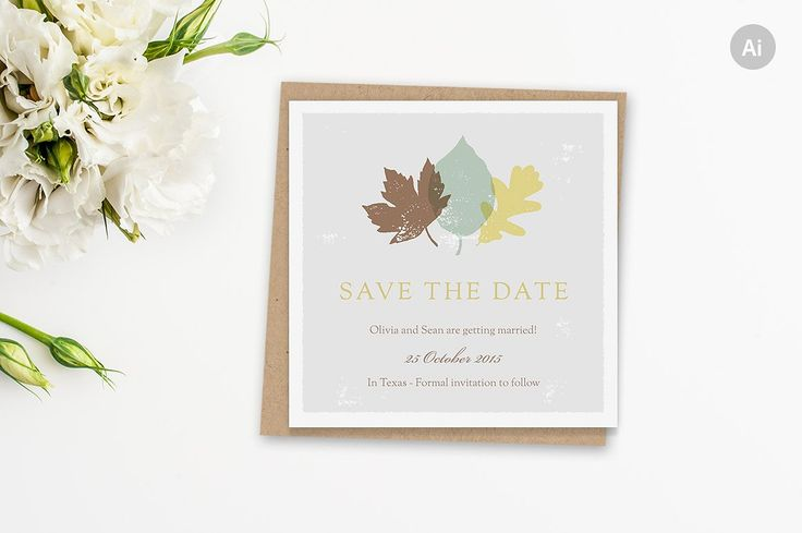 Autumn Save the Date Template by ClementineCreative on @creativemarket