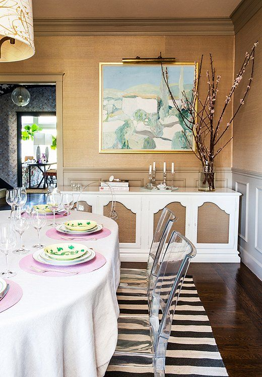 Love this glamorous meets modern dining room with bold stripes  pastel  accents and. 397 best INSPIRE   Dining Rooms images on Pinterest   Apartment