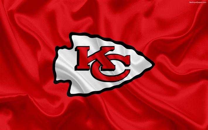 Hämta bilder Kansas City Chiefs, Amerikansk fotboll, logotyp, emblem, National Football League, NFL, Kansas City, Missouri, USA