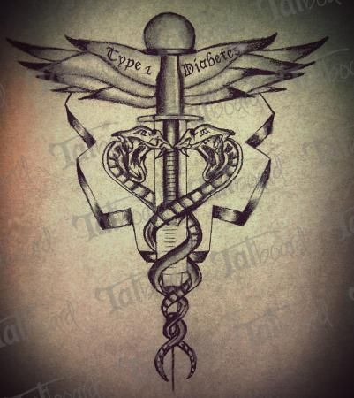 type+1+diabetes+tattoo+designs | Medic Alert Ink | Tatboard.com