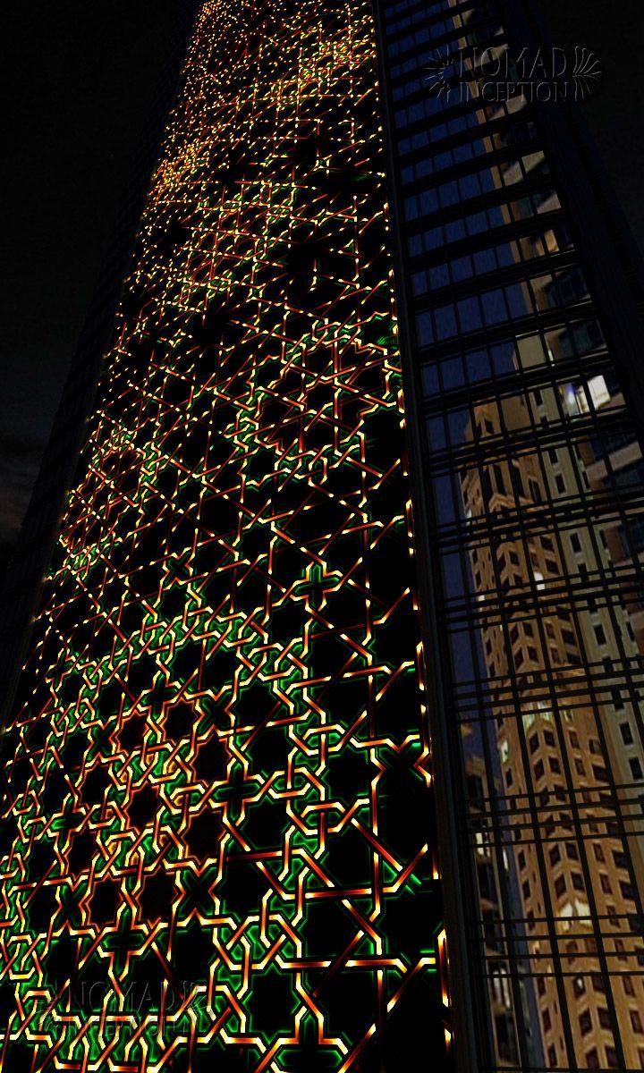 Islamic geometric design highlighting interlaces