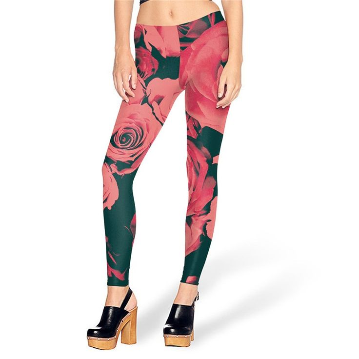 Pink Roses Retro Leggings ($22USD) & Free Shipping - SharezUp donates one clothing piece of your choice to people in need for every sale. Let's #changetheworld together!