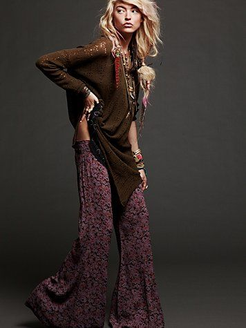 floral pants: Long Legs, Boho Chic, Fashion Style, Outfit, Looks Books, Wardrobes Staples, Free People, Hair, Crazy Pants