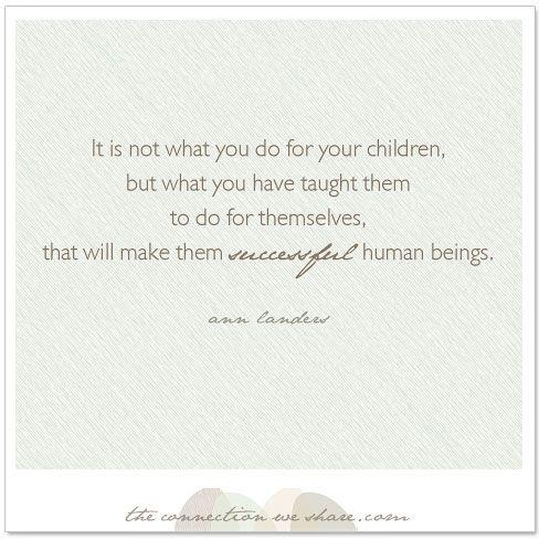 secret to raising successful children #motherhood #quotes #quote