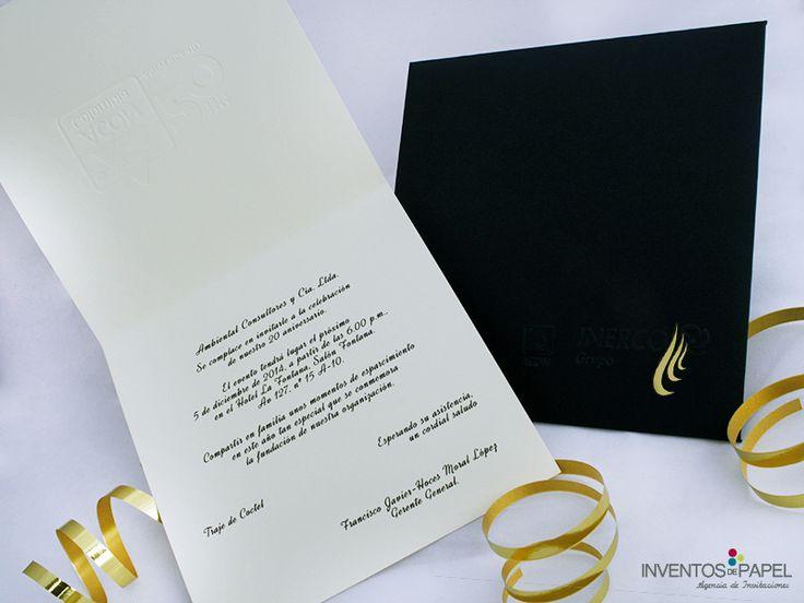 Una invitación sencilla y con mucho estilo para tu evento empresarial #evento #empresarial #invitacion #invitations #elegante #unico