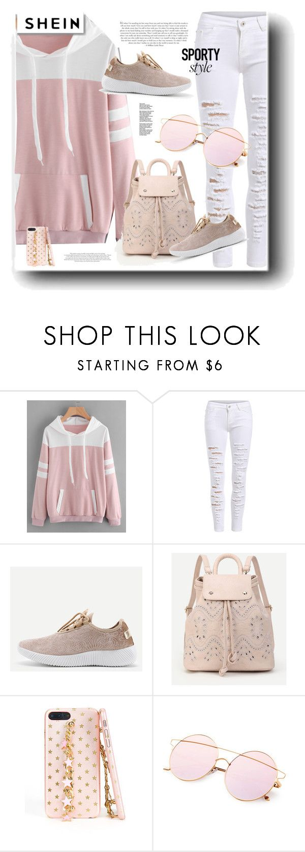 """SheIn"" by snezanamilunovic ❤ liked on Polyvore featuring White Label"