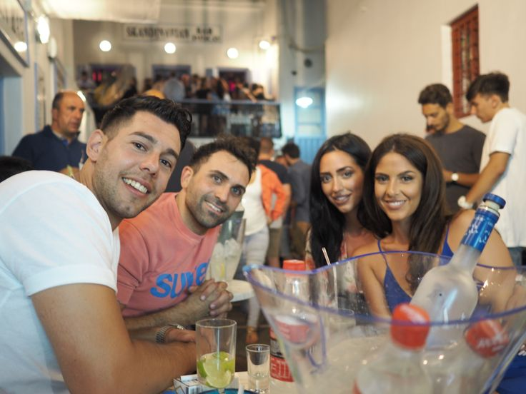 There Is Nothing Wrong By Making New Friends In #Mykonos. #Skandinavian-Bar The Meeting Point