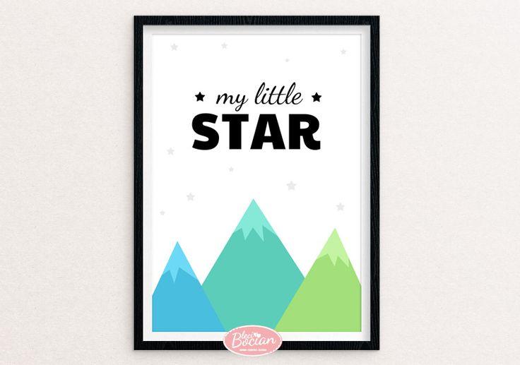 Darmowe plakaty dla dzieci / Free baby poster / My little star