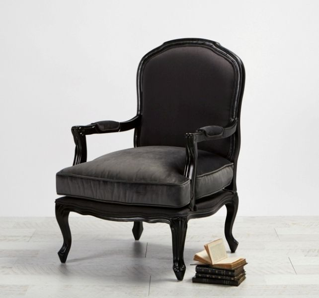 Chair Solange Black with Velvet from Villa Maison #americanstyle #classic #interiors #design