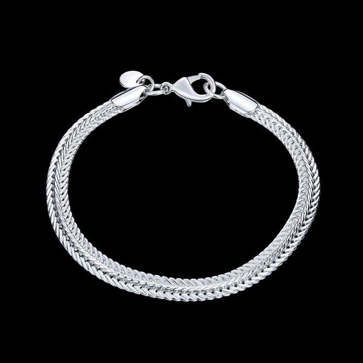 Г жа 2017 новый серебряный позолоченный браслет цепь плоским змея кости мужчины властная мода ювелирные изделия высокого качества мужской женский браслеткупить в магазине Woman's Gift StoreнаAliExpress