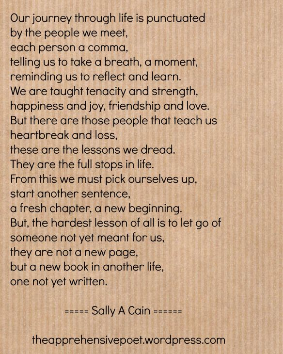 Our journey through life by Sally A Cain from theapprehensivepoet ...