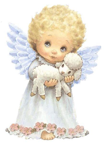 imagenes de angeles muy tiernas …. | Christmas cards and Angel