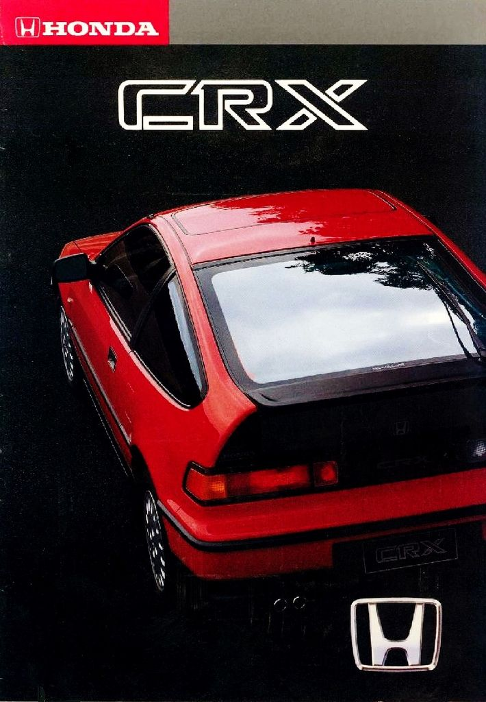 Honda CRX Mk2 Germany Brochure 1992