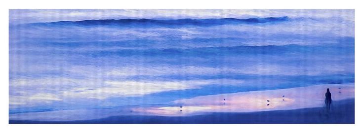 """""""Looking Into The Abyss"""" Yoga Mat by Leslie Montgomery"""