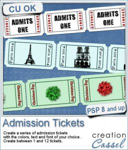Admission #Ticket - #PSP #Script - Although admission tickets might seem like a plain element to add to a digital project, it also can be a great medium to add a date, a name, or even...
