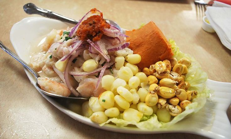 Peruvian ceviche at El Pollo Imperial