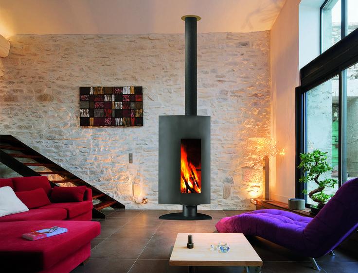 chimeneas modernas para un saln clido