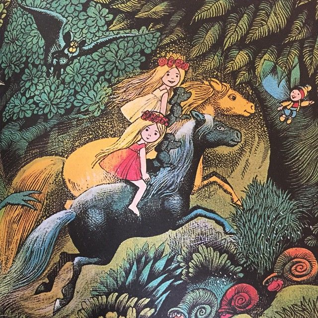 Allra käraste syster - Astrid Lindgren (text) & Hans Arnold (illustration) 1973