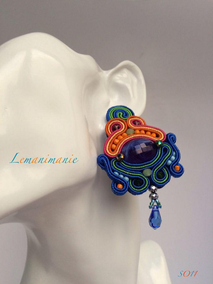 #orecchini #soutache #colorati #grandi, by Lemanimanie, 30,00 € su misshobby.com
