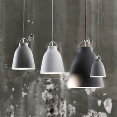 Caravaggio lamp, with a new soft and smoother matte finish.