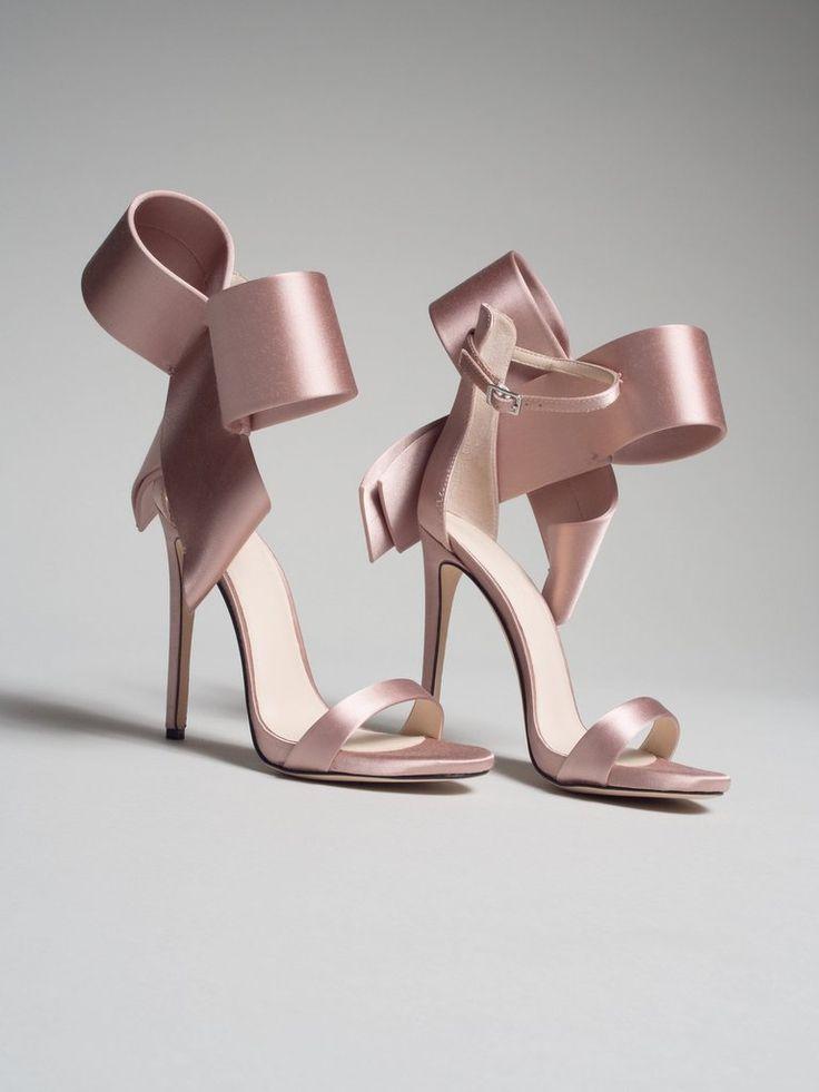 Champagne Open Toe Manolo Blahnik Heels Heels Bow Heels