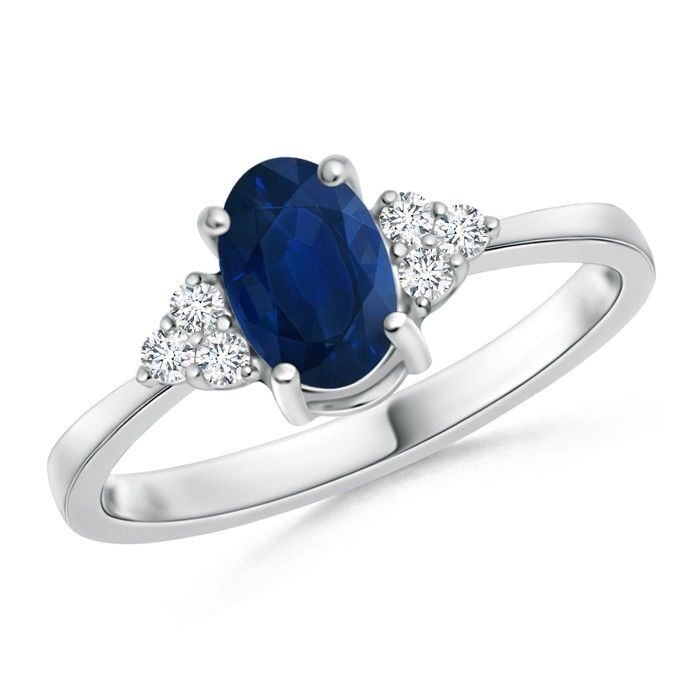 Angara Bezel Framed Square Sapphire and Diamond Promise Ring in Yellow Gold No5rPI5