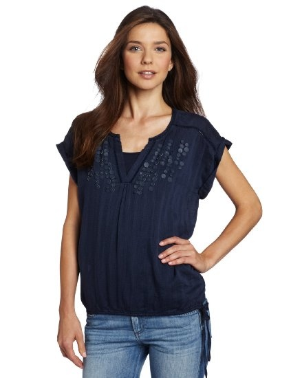 Calvin Klein Jeans Women's Cinch Bottom Woven Top $69.50