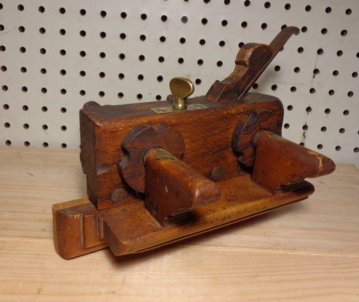 Antique W.Parkes Slide Wood Screw Arm Wood Brass Steel Fillister/plow Plane Tool by Bringingpast2Present on Etsy