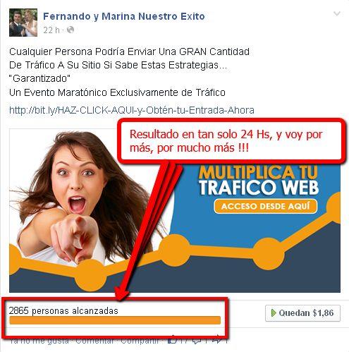 MIS PRUEBAS - - MIS RESULTADOS !!! En tan solo 24 Hs. aplicando las tecnicas que SI funcionan, llevando el mensaje a casi 3 mil personas Cuánto resultado necesitas para hacer despegar tu negocio Online? Te ayudo a Obtenerlos? Dale, ingresa HOY Mismo==)) http://www.wasanga.com/go.php?r=13534&i=9