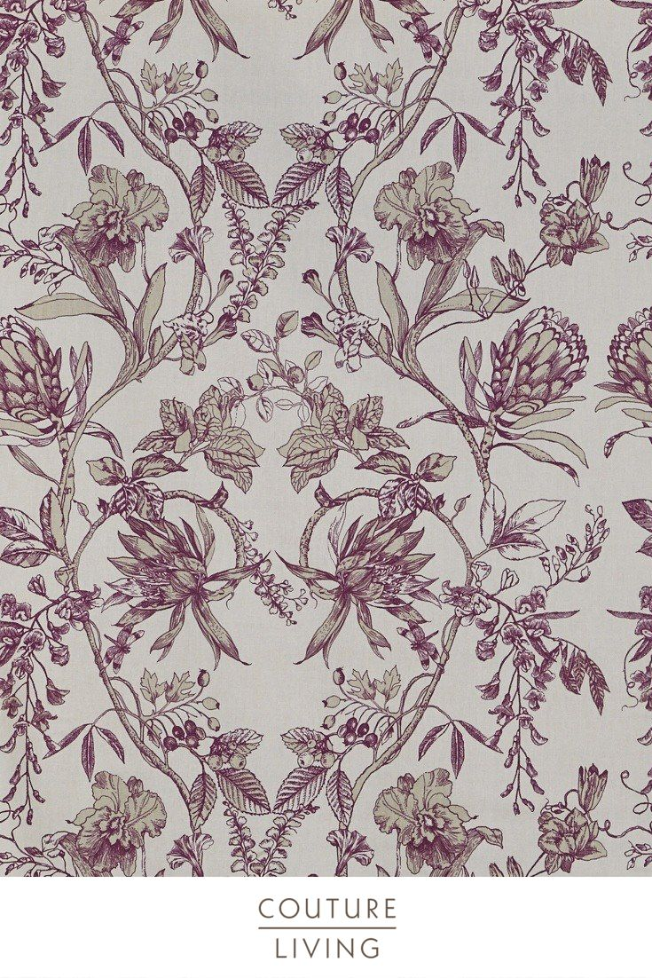 Featuring A Stunning Floral Symmetrical Pattern Linley Fabric By