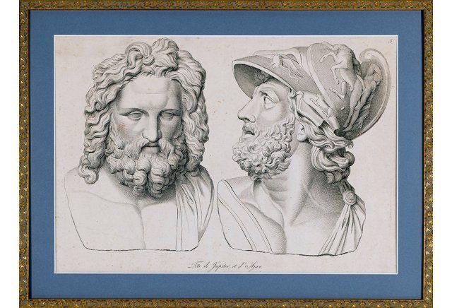 Neoclassical Heads of Jupiter & Ajax