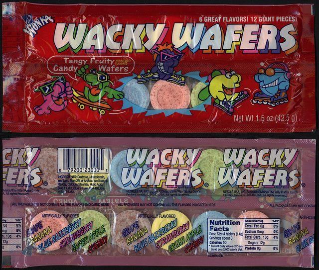 Wonka's Wacky Wafers-I wish they still made these!!!I remember going to the store at the beach and buying these!!