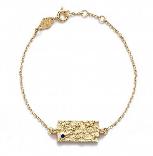 ANNI LU // Square bracelet // Gold+Blue, 750 kr.