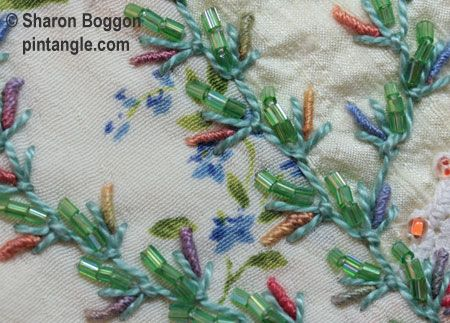 UP and Down feather stitch sample