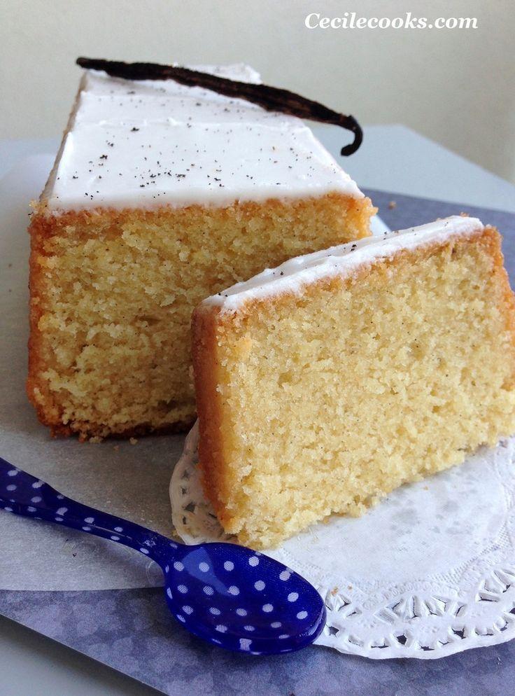 Cake infiniment vanille de P. Hermé. A adapter sans sucre raffiné ni lactose
