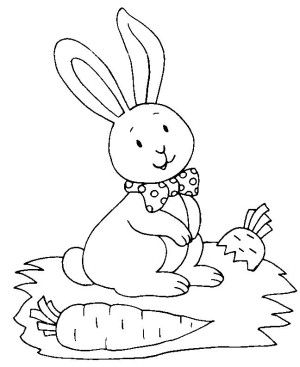Vintage Rabbit Coloring Book 64 Bunnies coloring page is